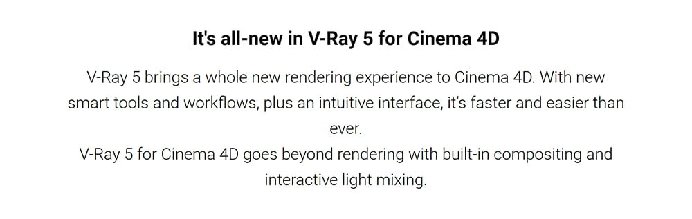 V-Ray for Cinema 4D introducing